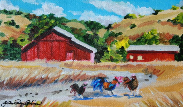 """Old Red Barn"" original fine art by JoAnne Perez Robinson"