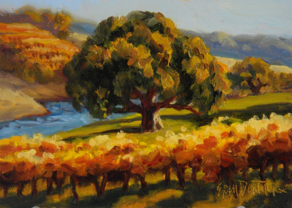 """Oaks & Vines in Autumn"" original fine art by Erin Dertner"