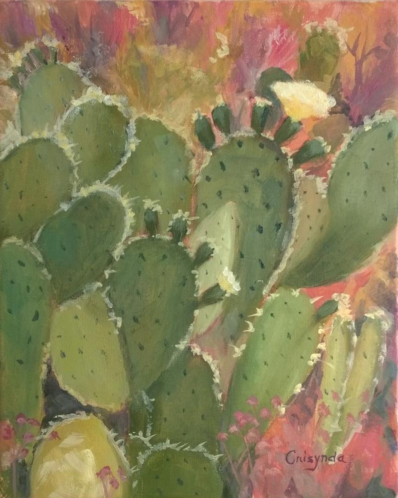"""THE WEDDING CACTUS"" original fine art by Crisynda Buss"