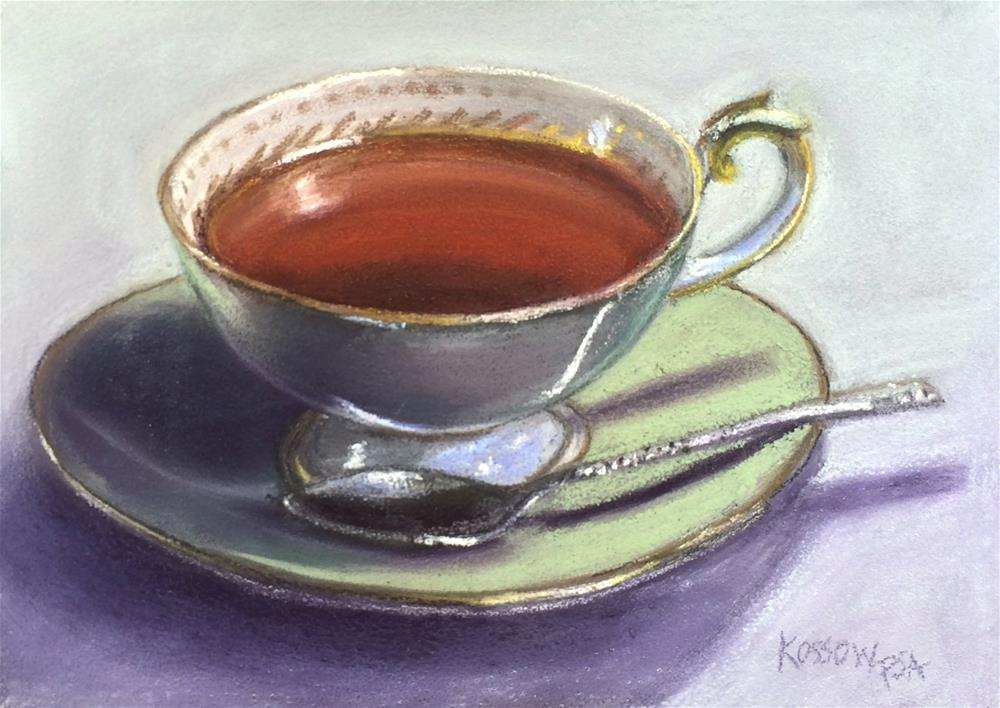 """Downton Tea"" original fine art by Cristine Kossow"