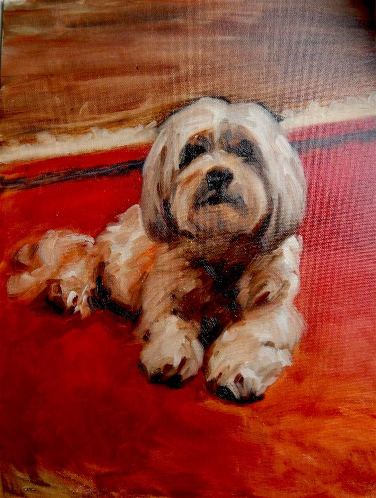 """Anne's Dog"" original fine art by Megan Schembre"