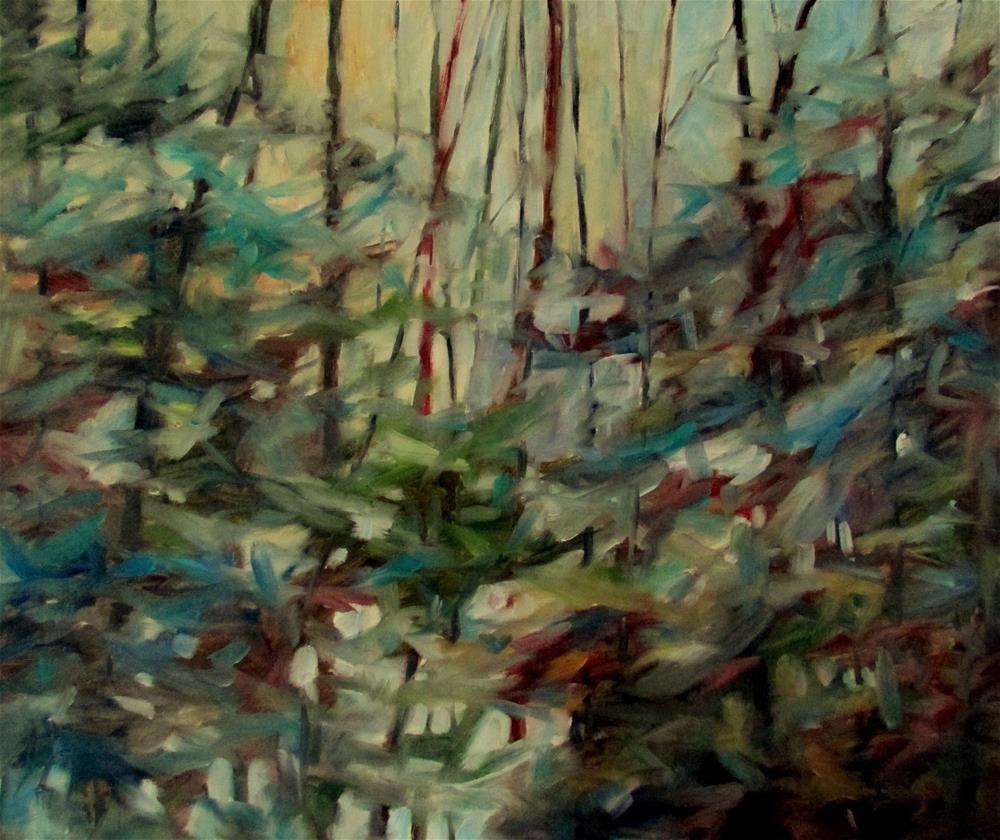 """""""20 x 24 inch oil Blue Surrender"""" original fine art by Linda Yurgensen"""