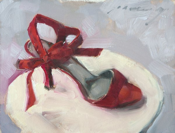 """Left at the Ball"" original fine art by Patricia Canney"