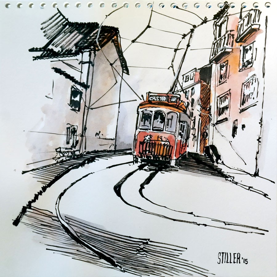 """1596 Wednesday Sketch"" original fine art by Dietmar Stiller"