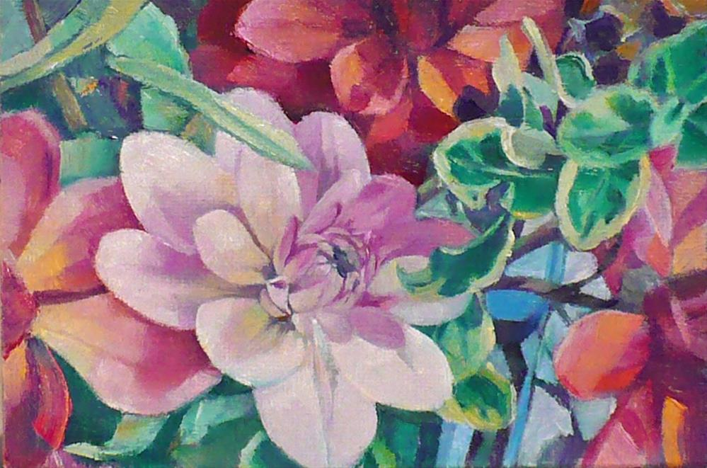 """Dahlia delight"" original fine art by Nicoletta Baumeister"