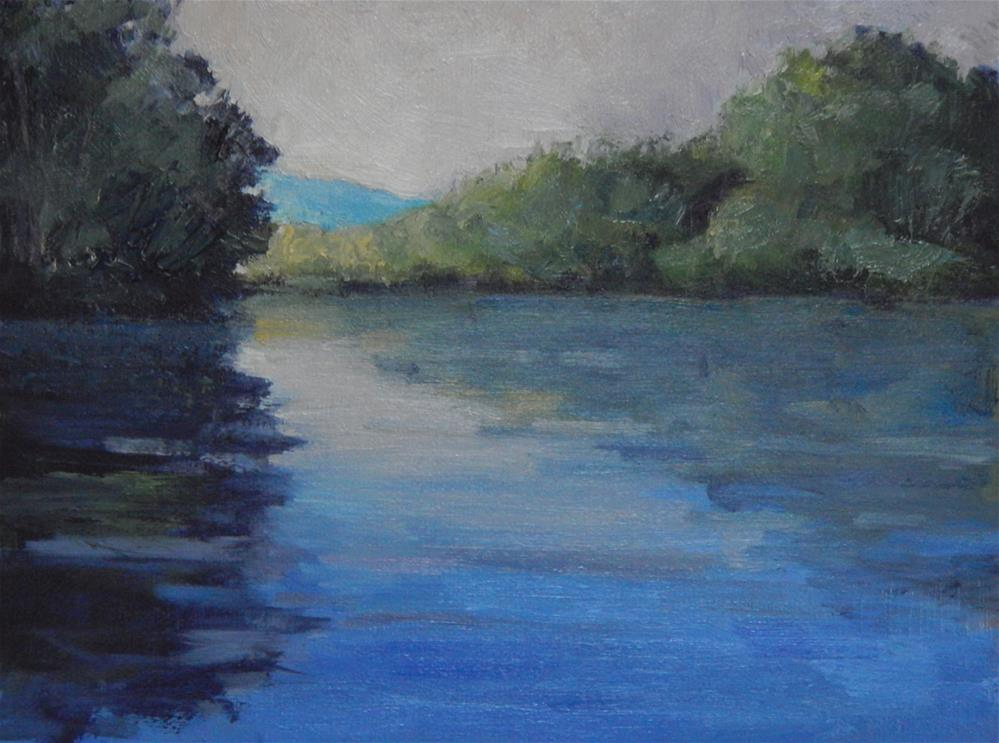 """Light on the River"" original fine art by Lisa Kyle"