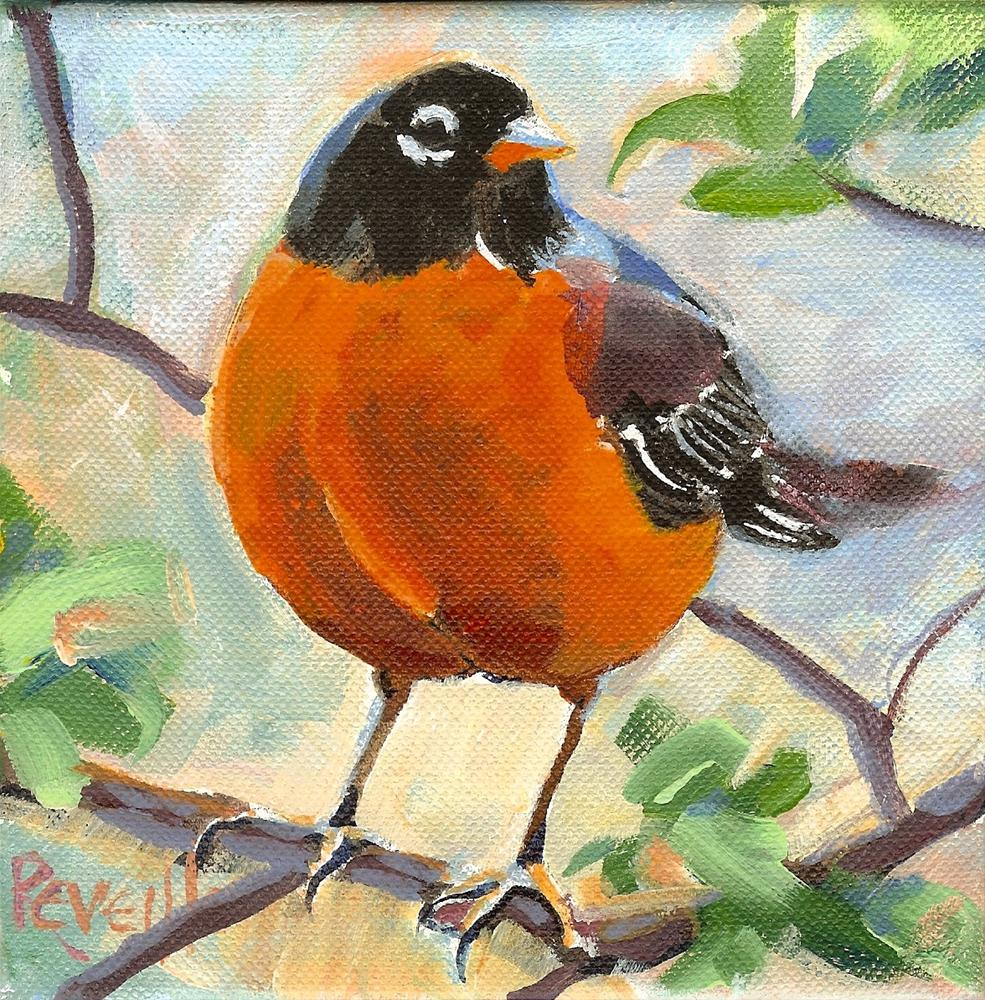 """Bubba Robin"" original fine art by Reveille Kennedy"