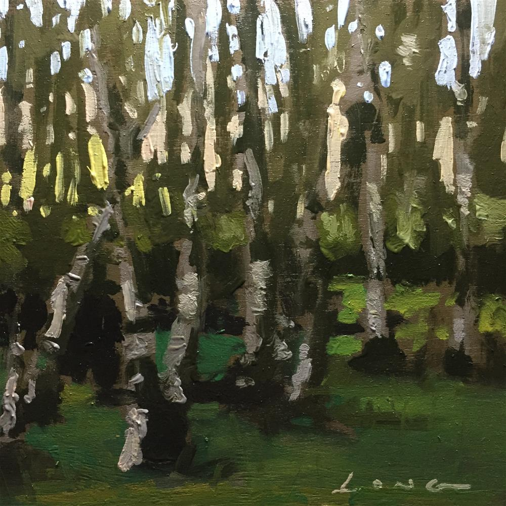 """Birch Grove"" original fine art by Chris Long"
