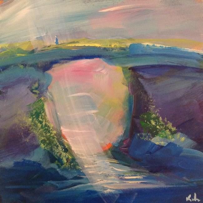 """In Imagination Stood"" original fine art by David Kuhn"