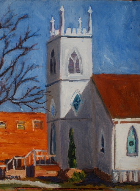 """Historic Georgetown Church"" original fine art by Liz Zornes"