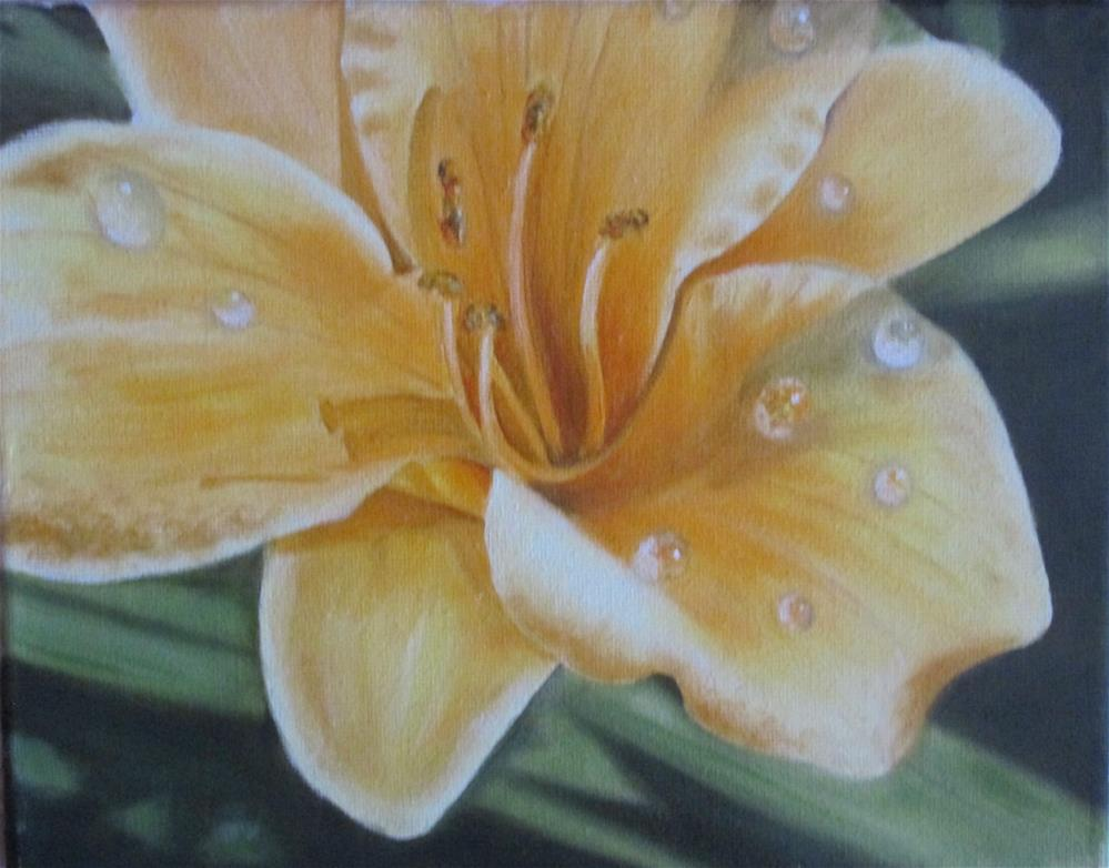 """Yellow Lily"" original fine art by Barbara Wagner"