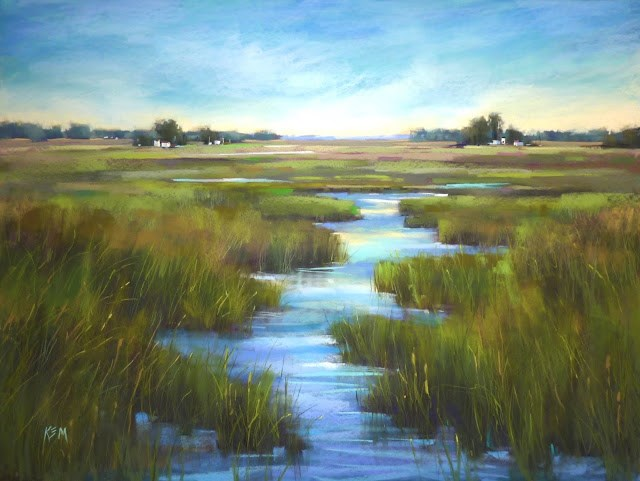 """Sunday Studio Video: The Finishing Marks on a Large pastel Painting"" original fine art by Karen Margulis"