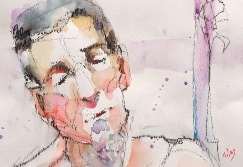 """forlorn"" original fine art by Nora MacPhail"