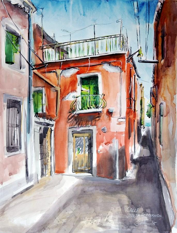 """1362 Calle Streta Fernando"" original fine art by Dietmar Stiller"