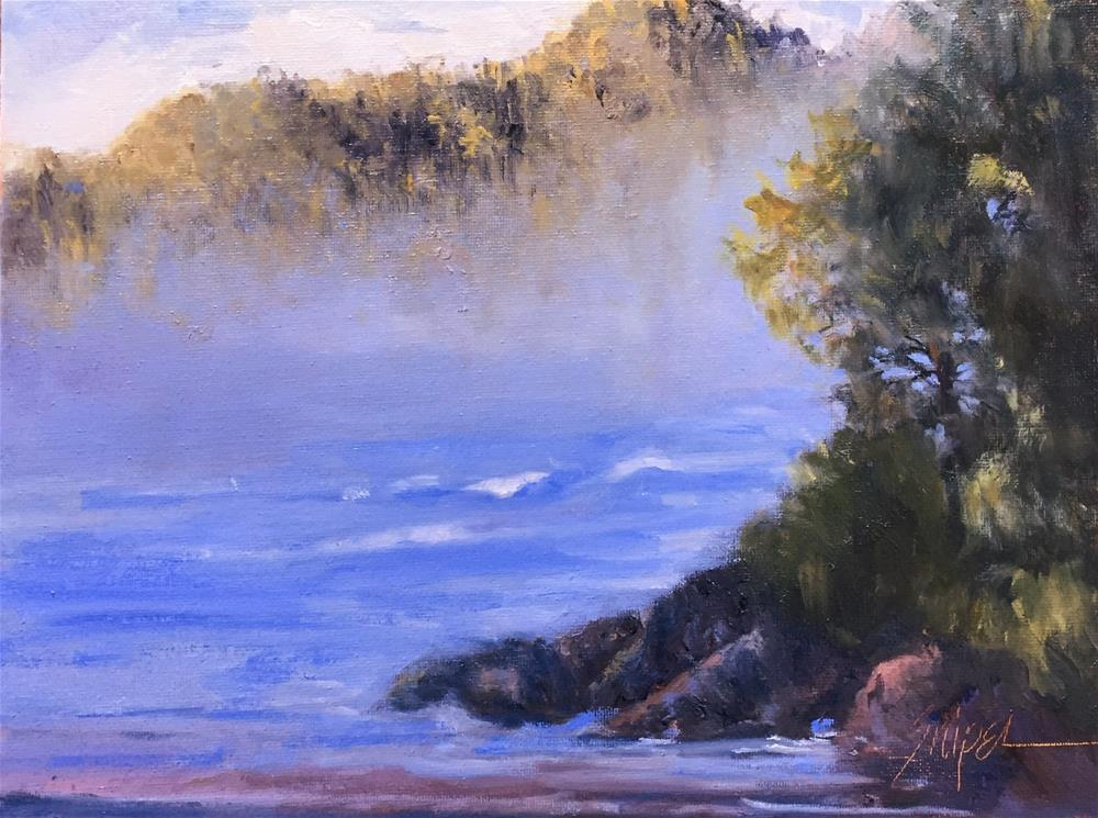 """Misty Morning"" original fine art by Connie Snipes"