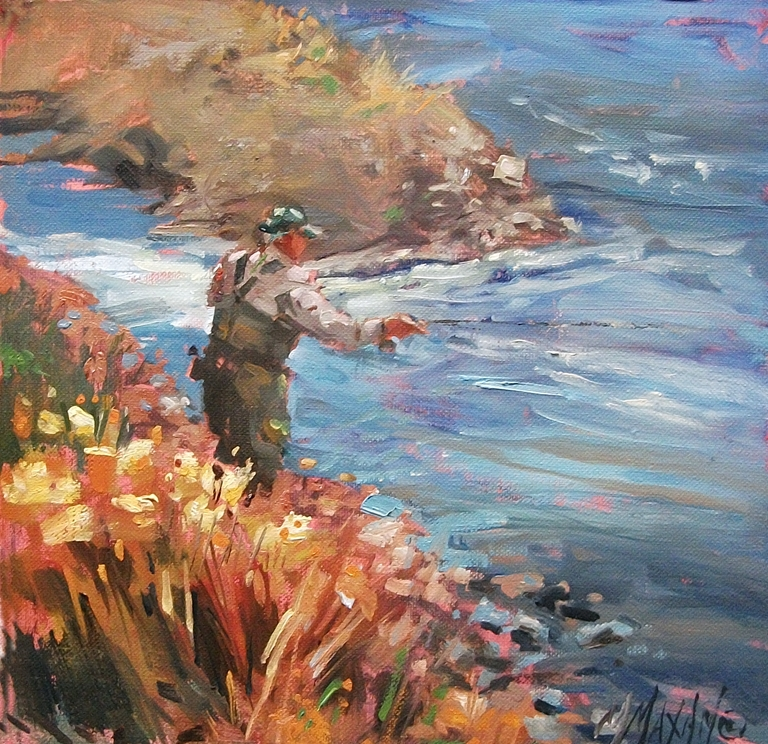 """New Water"" original fine art by Mary Maxam"