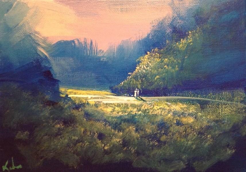 """In the Western Sun"" original fine art by David Kuhn"