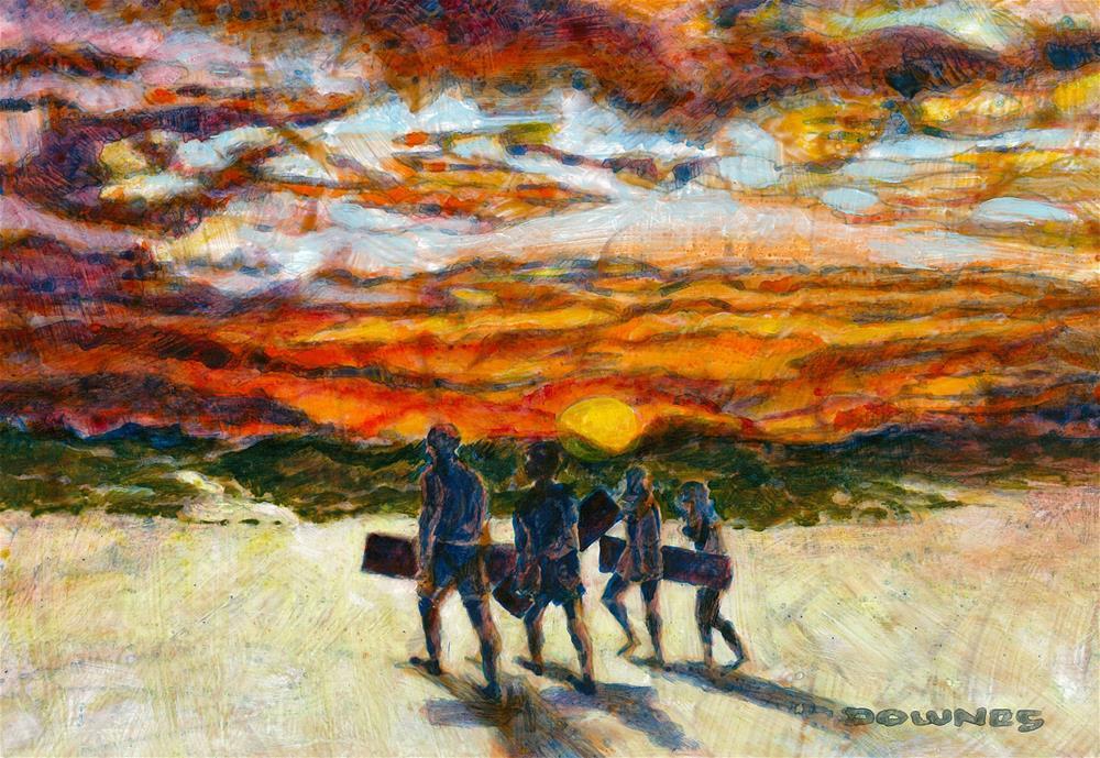 """""""233 MORETON ISLAND 1"""" original fine art by Trevor Downes"""