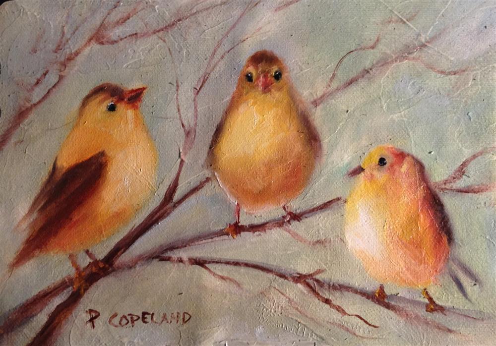 """Trio"" original fine art by Pamela H. Copeland"