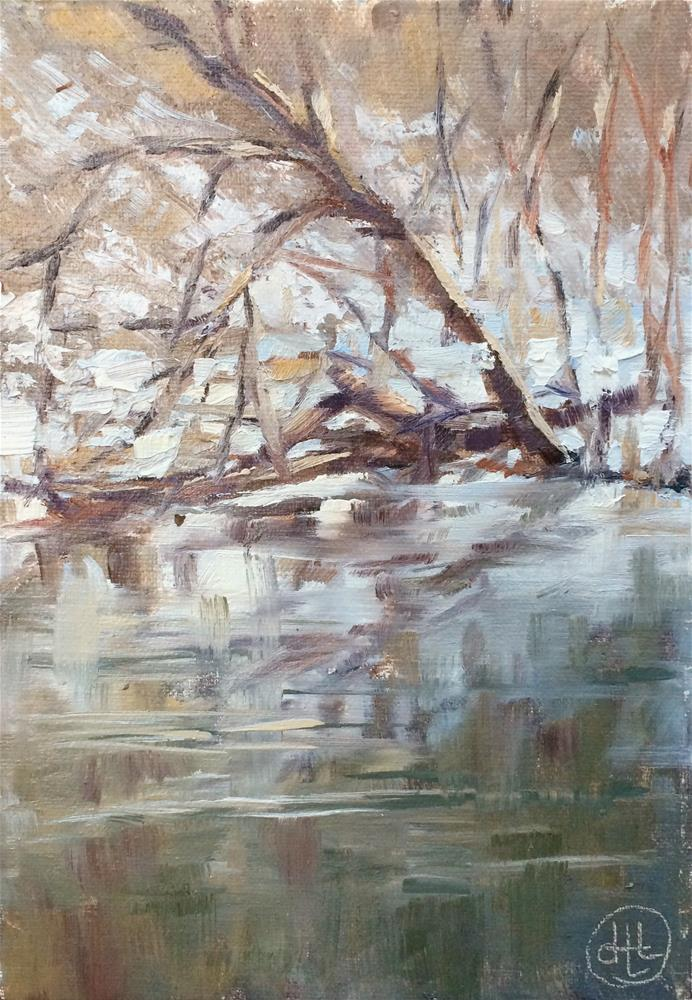 """lyrical"" original fine art by Dottie  T  Leatherwood"