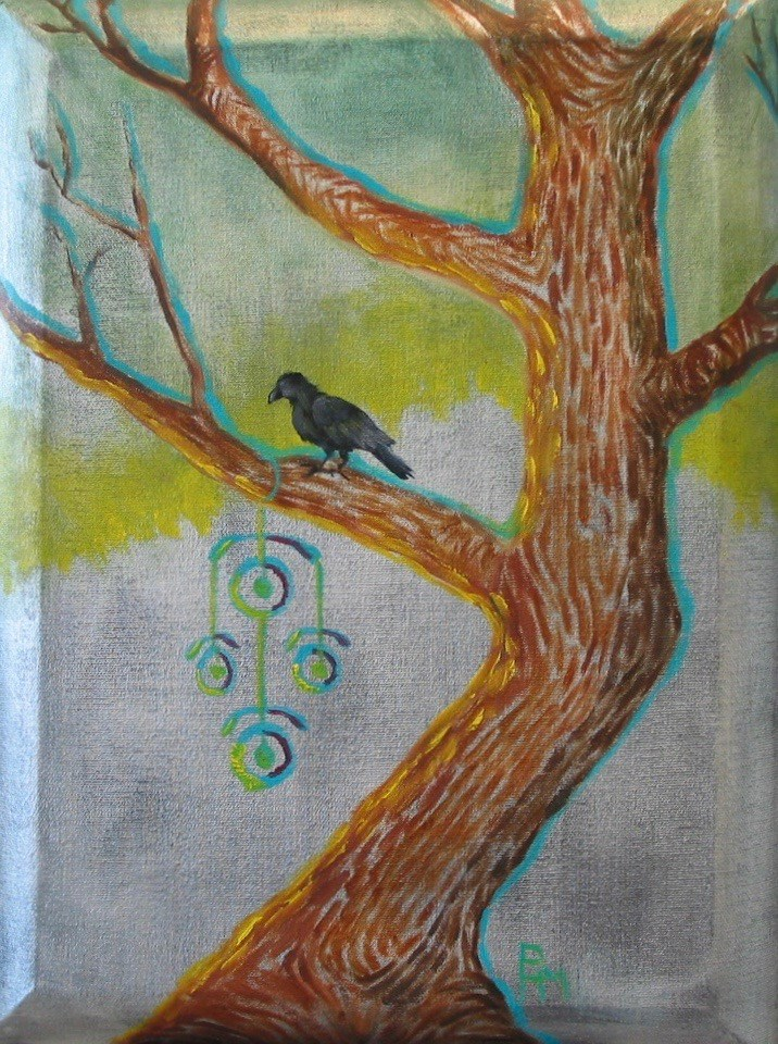 """Raven Robber"" original fine art by Patricia Murray"
