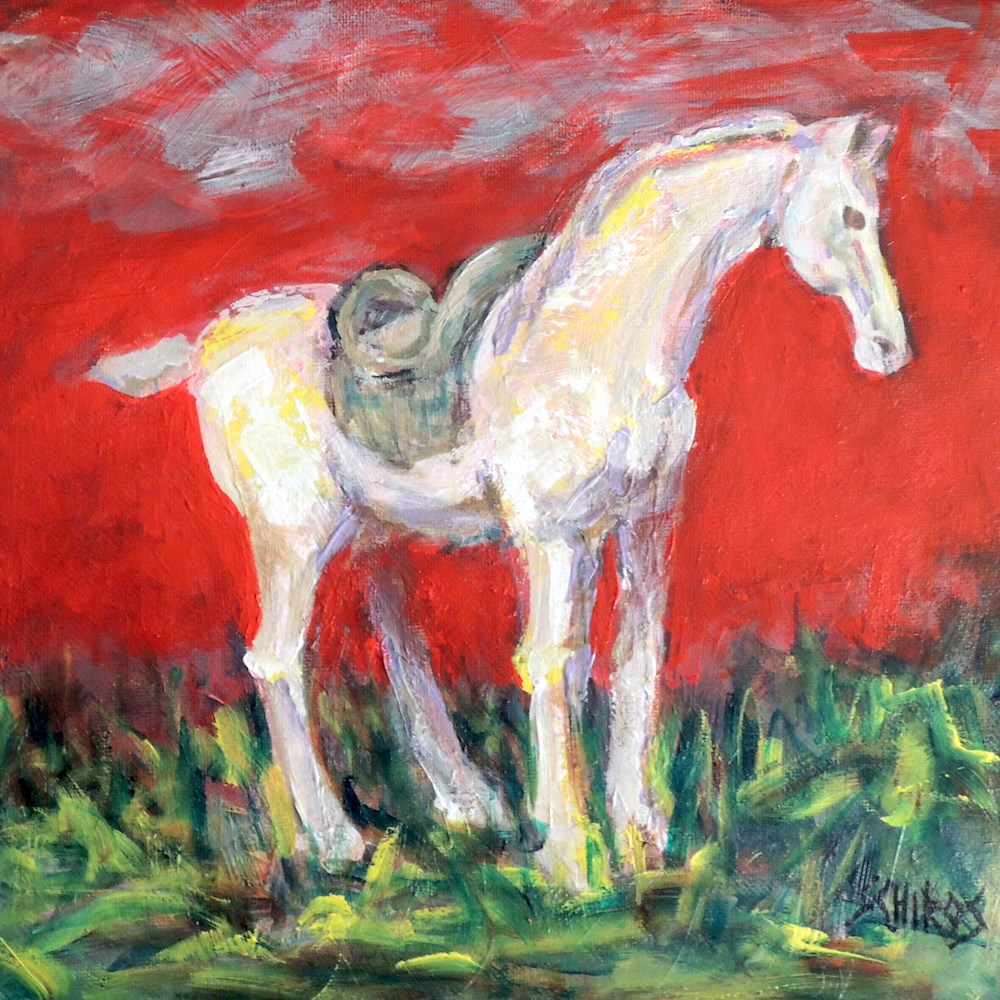 """Tuscan Horse Study 2"" original fine art by Mary Schiros"