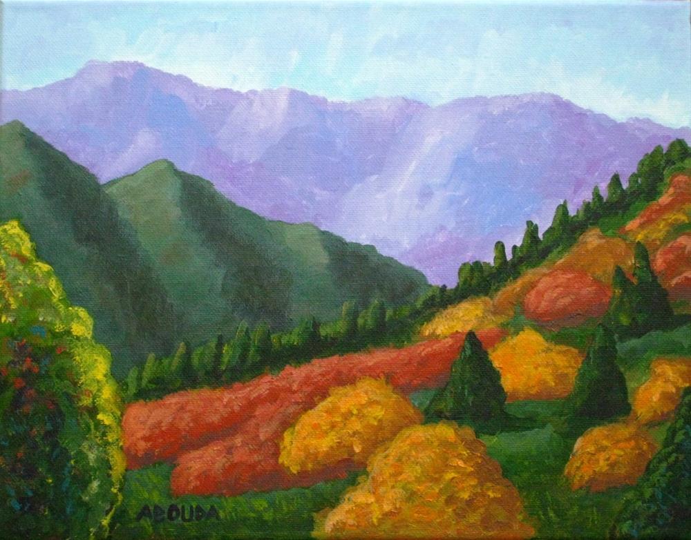"""Little Cottonwood Canyon"" original fine art by Sandy Abouda"