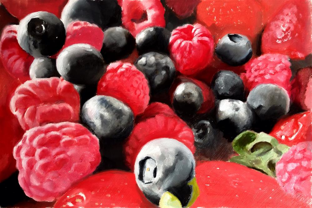 """Summer Fruits 1"" original fine art by James Coates"