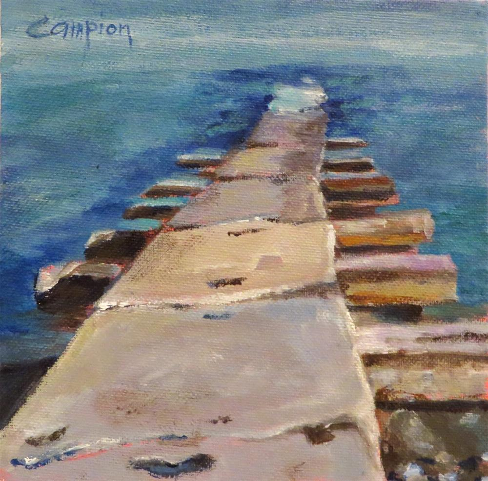 """584 Pier at Big Bay"" original fine art by Diane Campion"