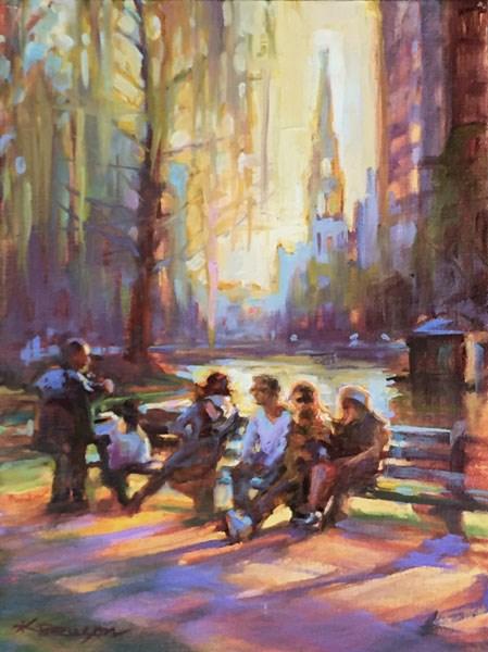 """Boston Public Garden"" original fine art by Karen Bruson"