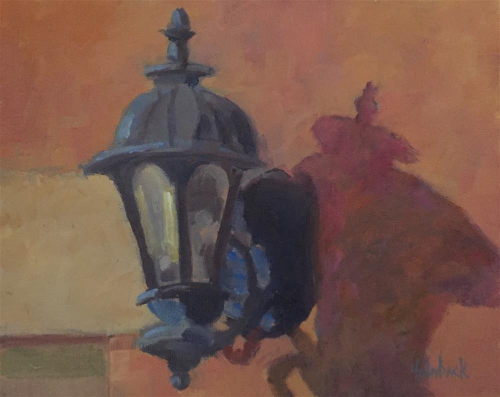 """Old Church Lantern"" original fine art by Pam Holnback"