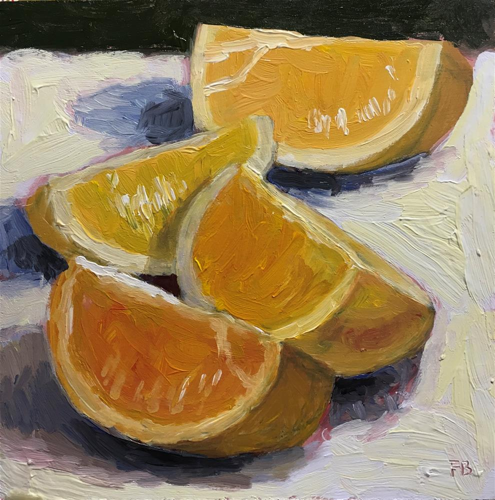"""225 Orange Group"" original fine art by Fred Bell"