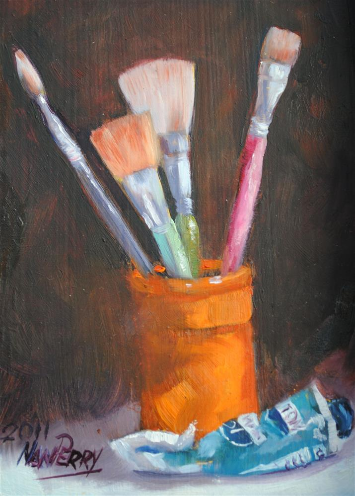 """Tools of the Trade"" original fine art by Nan Perry"