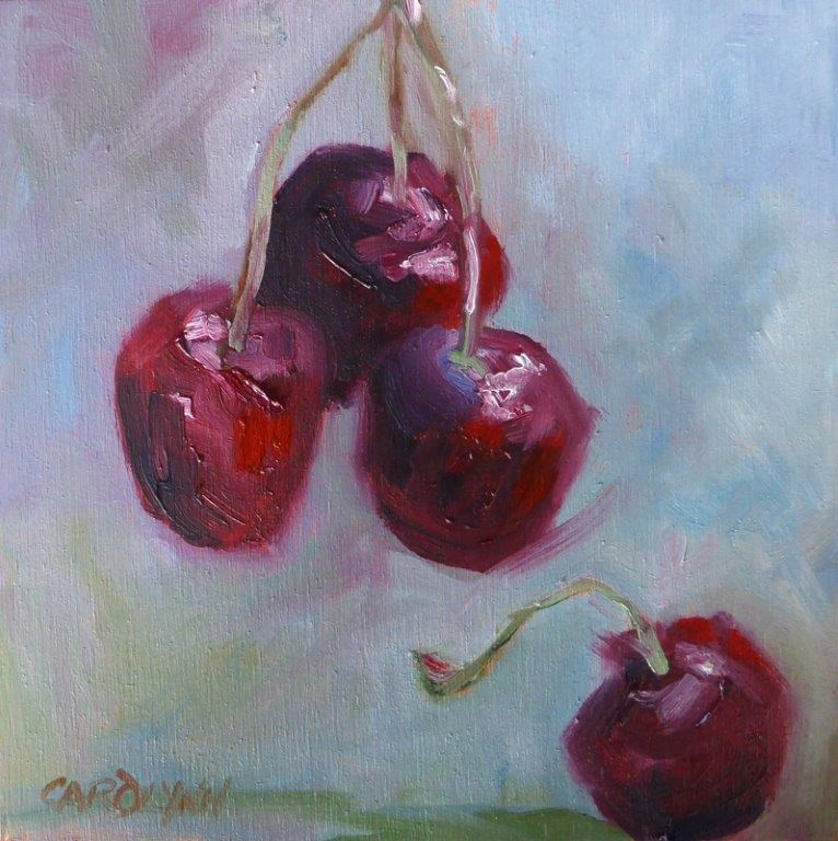 """Cherries From Heaven"" original fine art by Carolynn Doan"