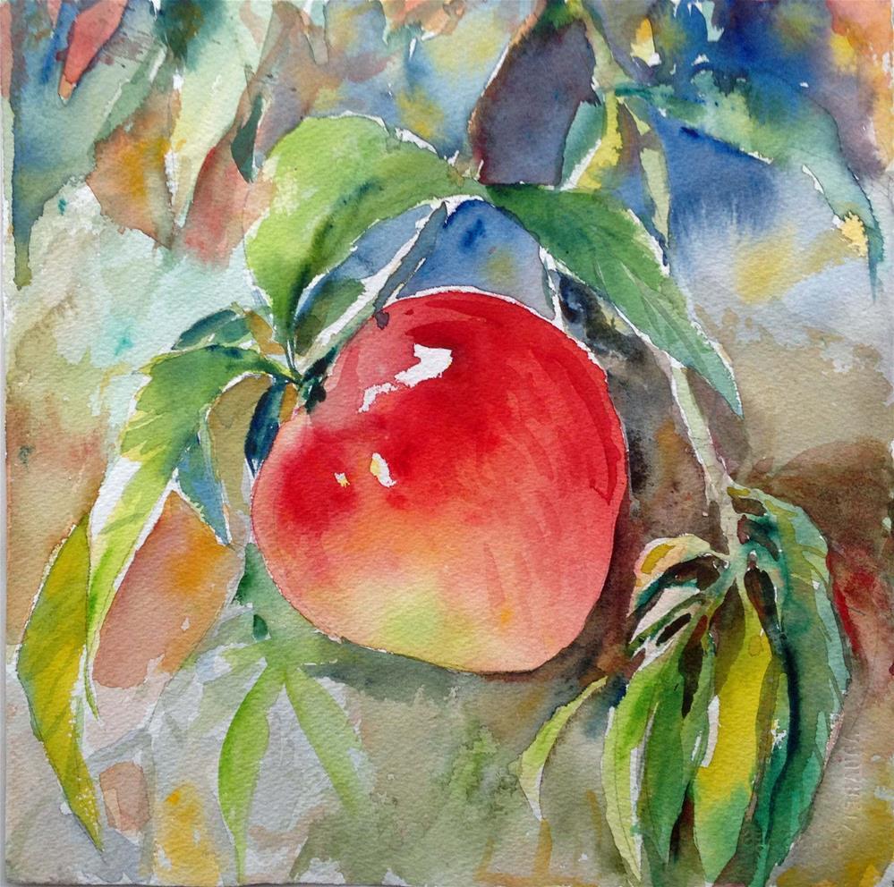"""""""Ripe peach--2"""" original fine art by Wenqing Xu"""