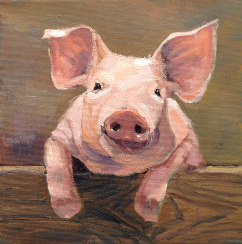 """Swine Flu Who?"" original fine art by Deborah Newman"