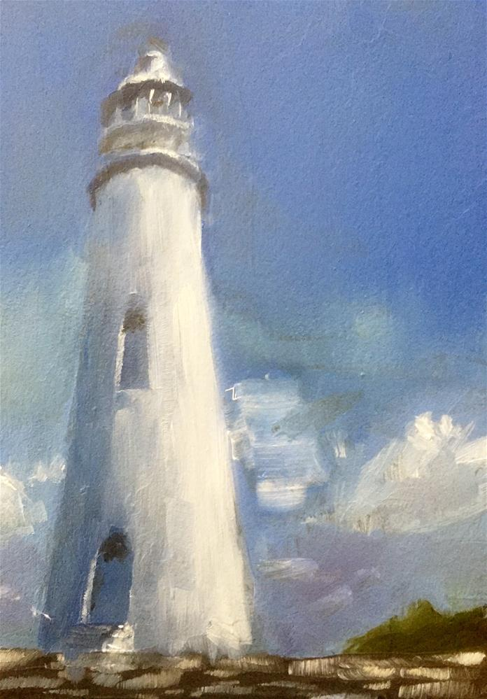 """Dixon Lighthouse"" original fine art by Gary Bruton"