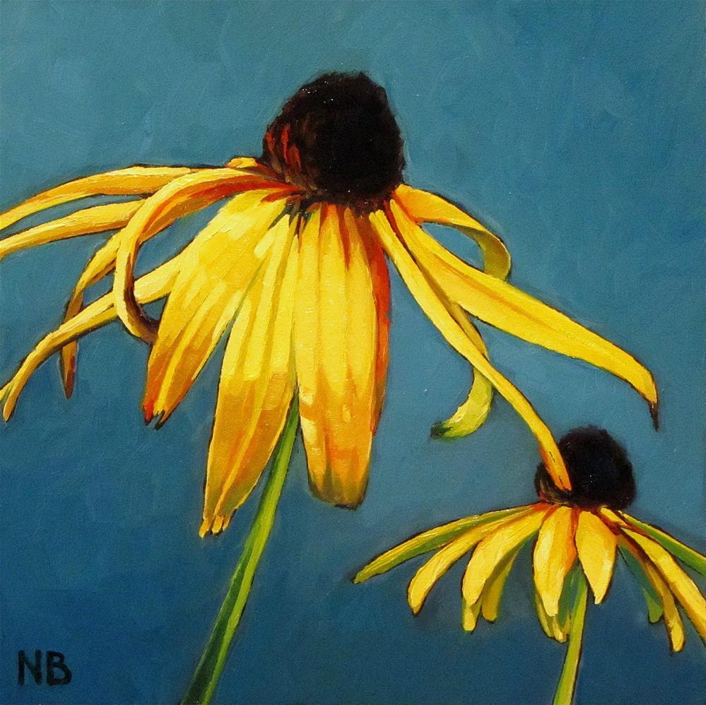 """Two Black Eyes"" original fine art by Nora Bergman"