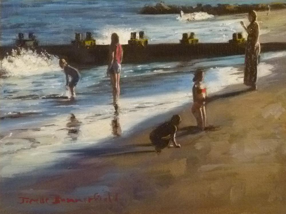 """Silhouettes on the Beach"" original fine art by Jonelle Summerfield"