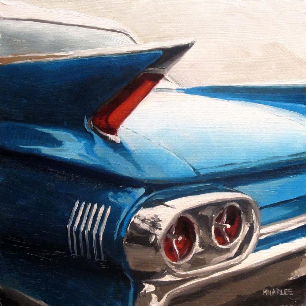 """Blue Tail Fin"" original fine art by Michael Naples"
