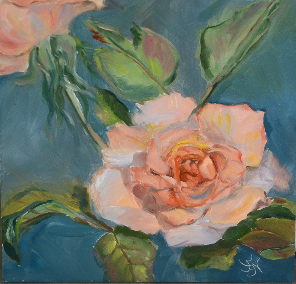 """Just Peachy"" original fine art by Jan Jackson"