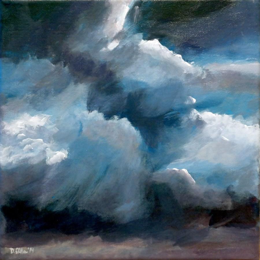 """""""0905 Small Clouds"""" original fine art by Dietmar Stiller"""
