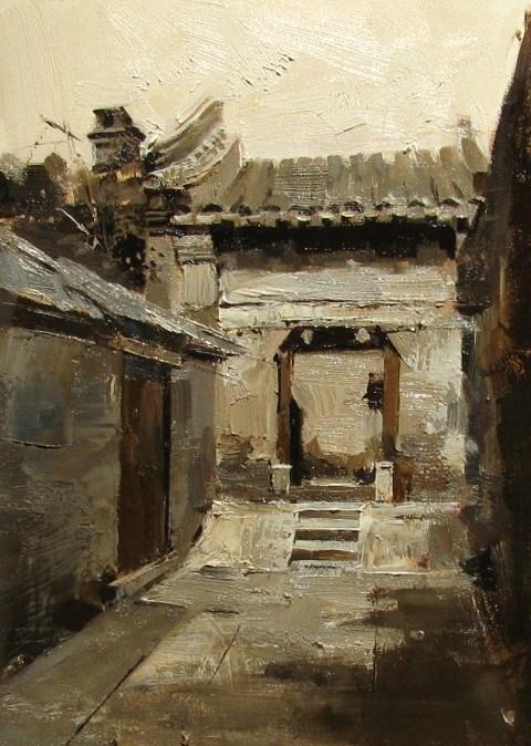 """On a Beijing Street 5"" original fine art by Qiang Huang"