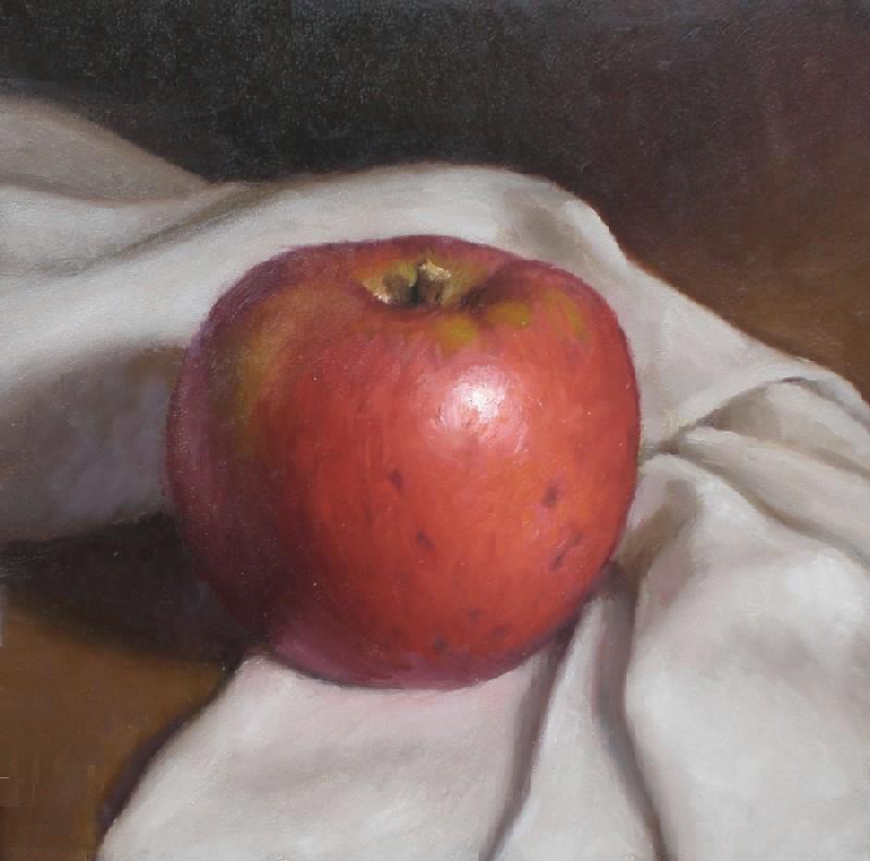 """Apple and Cloth"" original fine art by Debra Becks Cooper"