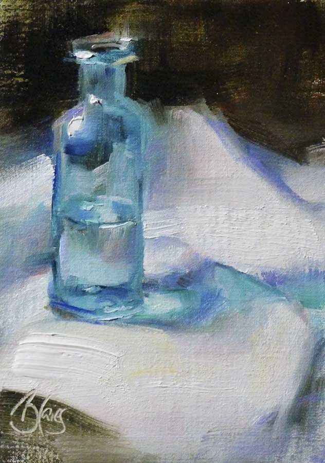 """Blue"" original fine art by Pamela Blaies"