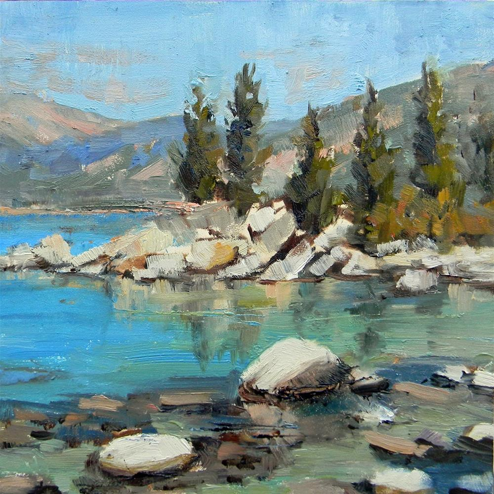 """Sand Harbor Reflections"" original fine art by Barbie Smith"