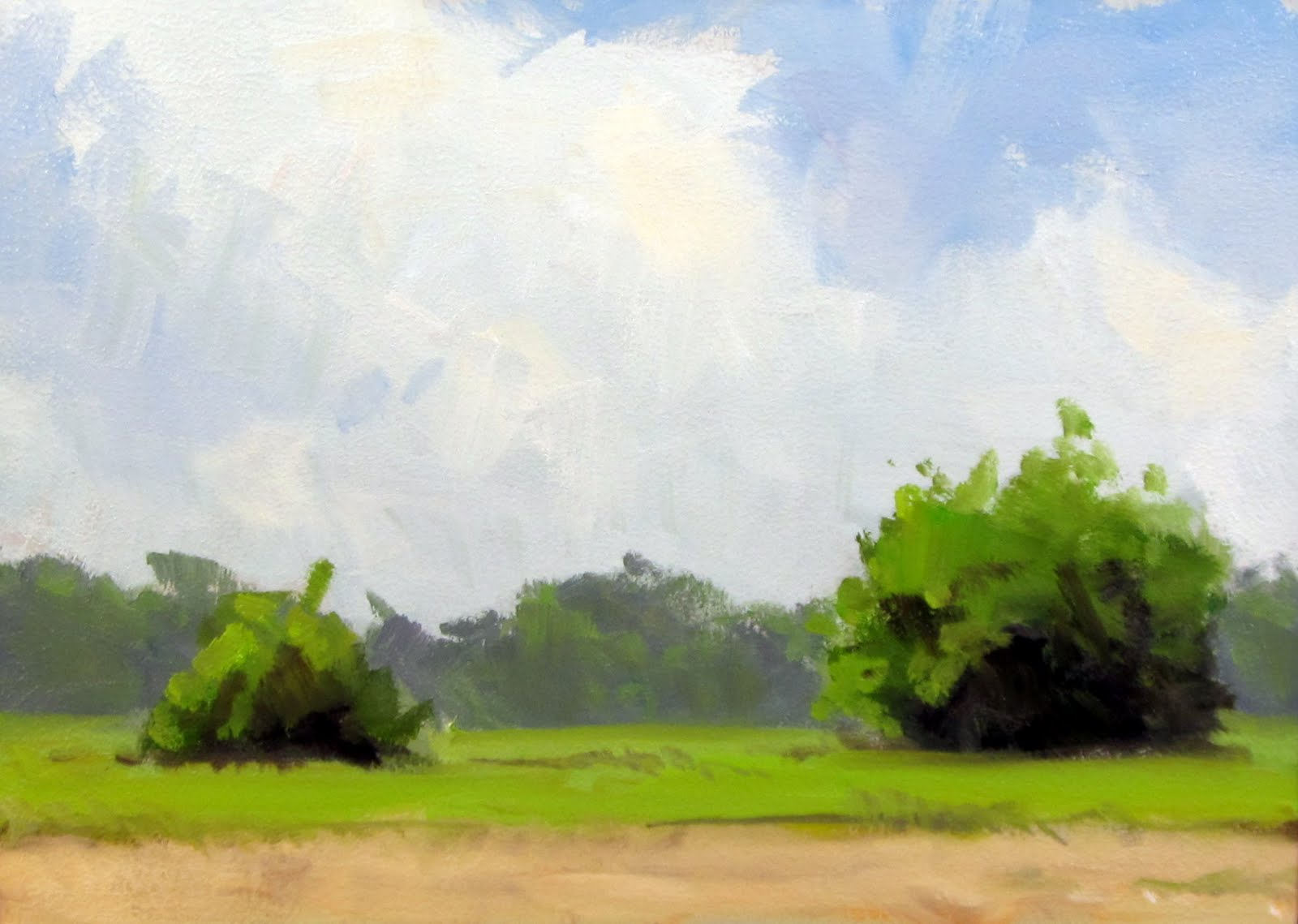 """ART 4 DIAPERS (DAILY DIAPER #164) Spring Field"" original fine art by Brian Burt"