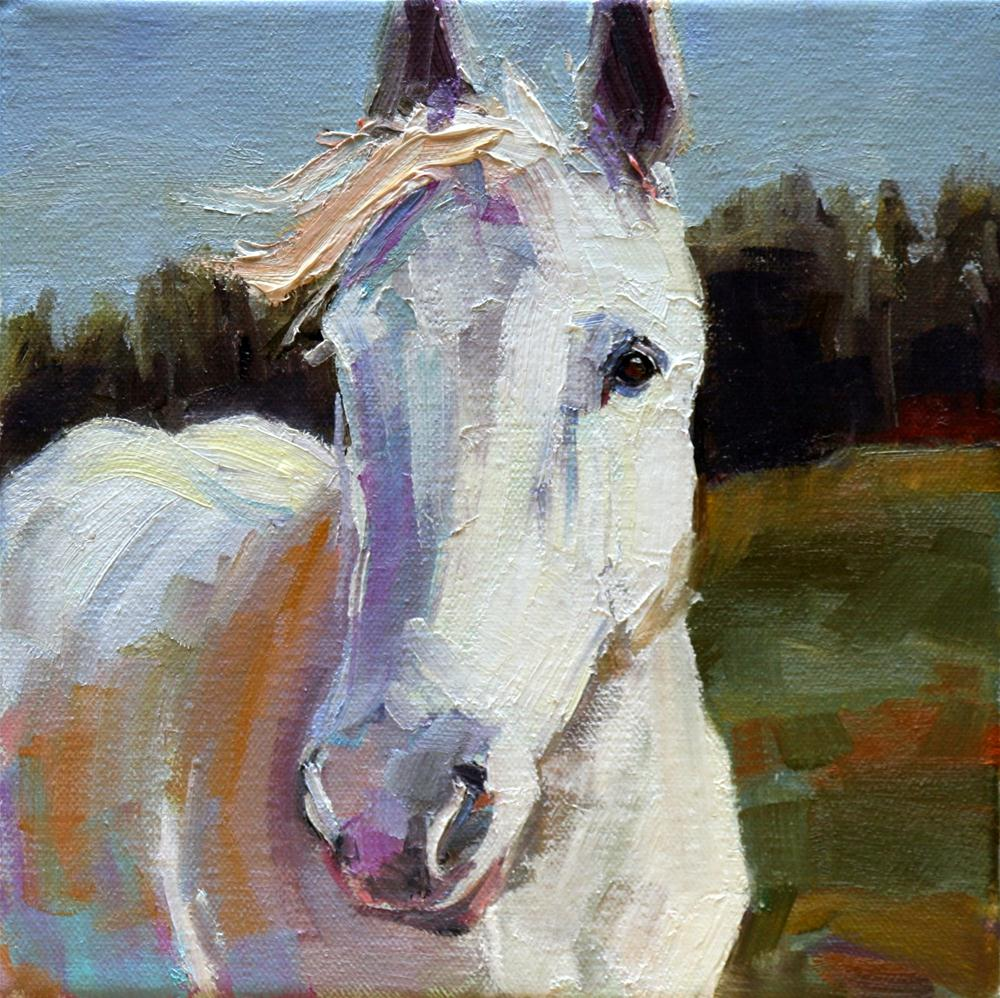 """white beauty"" original fine art by Carol Carmichael"