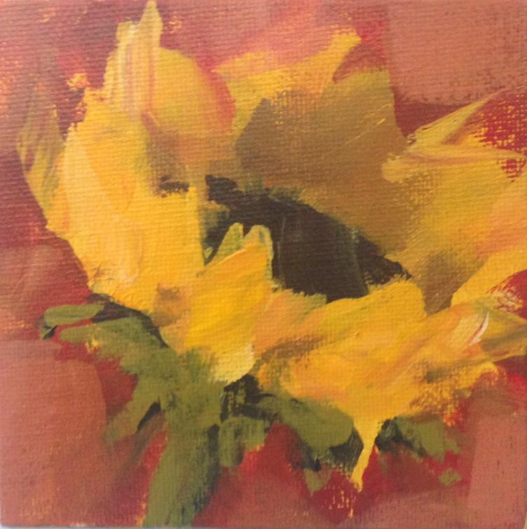 """Single Sunflower No. 3"" original fine art by Shannon Bauer"