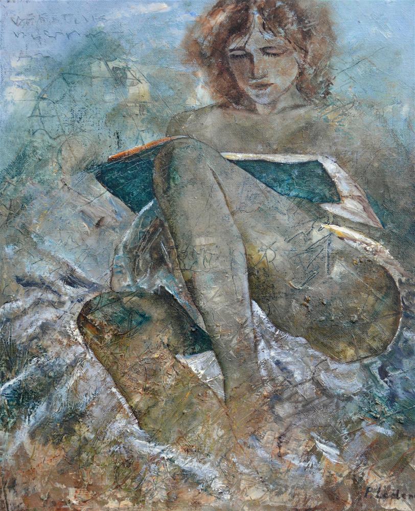 """Reading 56"" original fine art by Pol Ledent"